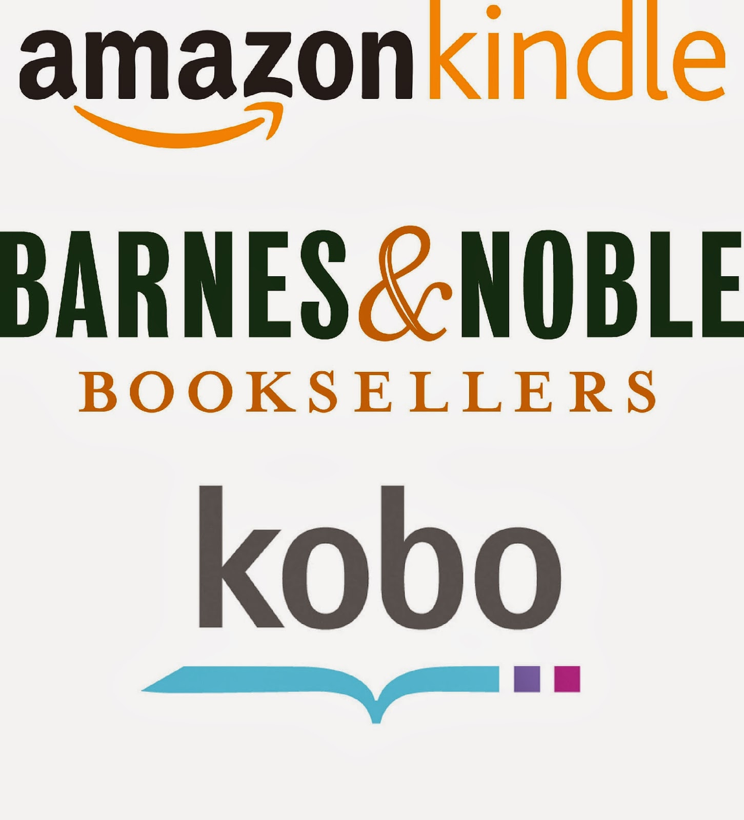 amazon, Barnes & Noble & Kobo logo